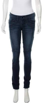 Black Orchid Mid-Rise Moto Jeans