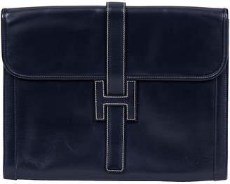 One Kings Lane Vintage Hermès Oversize Box Calf Jige Clutch