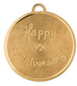 Charm 14K Happy Anniversary