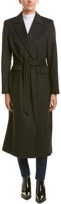 Sofia Cashmere Sofiacashmere Boyfriend Wool-Blend Coat