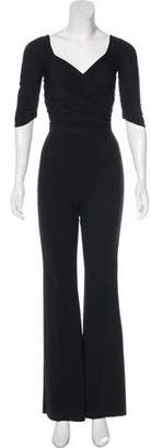 Chiara Boni Ruched Long Sleeve Jumpsuit