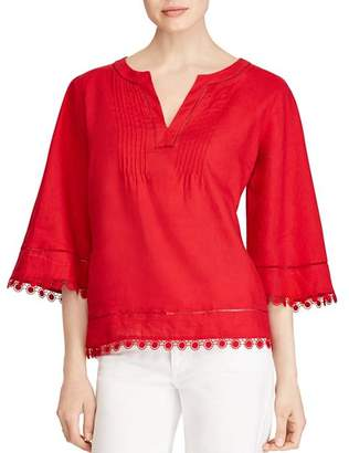 Ralph Lauren Embroidered Linen Top