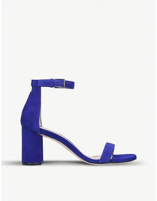 Stuart Weitzman 75Lessnudist suede two-part sandals