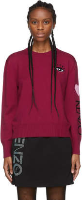 Kenzo Red Limited Edition Cupid Mini Eye Sweater