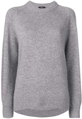 Theory fine knit crewneck sweater