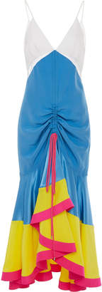 Prabal Gurung Bhada V-Neck Silk Midi Dress