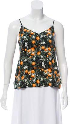 Equipment Sleeveless Printed Silk Top w/ Tags