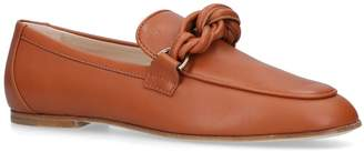 J.P Tods Cuoio Twist Loafers