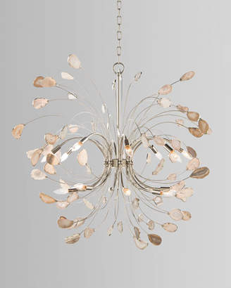 John-Richard Collection Agate and Nickel 16-Light Chandelier