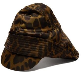 Burberry Animal Print Technical Twill Rain Hat - Mens - Khaki Multi