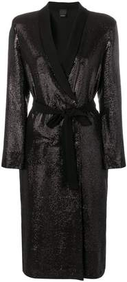 Pinko sequinned wrap dress