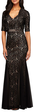 Alex EveningsAlex Evenings Fit and Flare Gown and Bolero Jacket Set