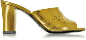Jil Sander Laminated Leather High Heel Slide