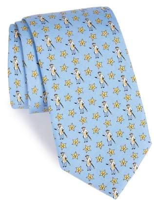 Vineyard Vines Vanderbilt Star-V Silk Tie