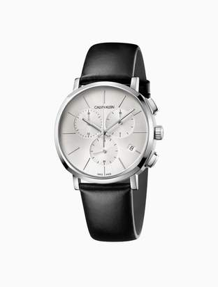 Calvin Klein posh leather chronograph watch