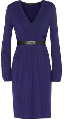 Roberto Cavalli Belted Modal-Blend Dress