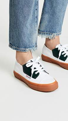 Superga x Alexa Chung 2767 Cotleabrush Lace Up Sneakers