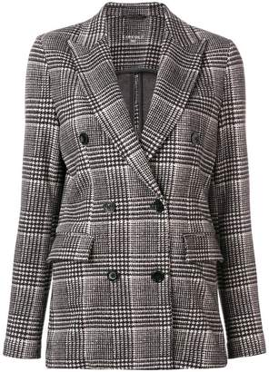 1901 Circolo checked double-breasted jacket