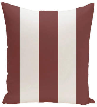 E By Design 16 Inch Rust Decorative Striped Throw Pillow