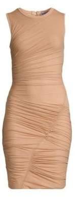 Herve Leger Sleeveless Ruched Mini Dress