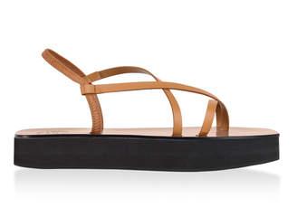 Atelier Atp Maremma Leather Platform Sandals