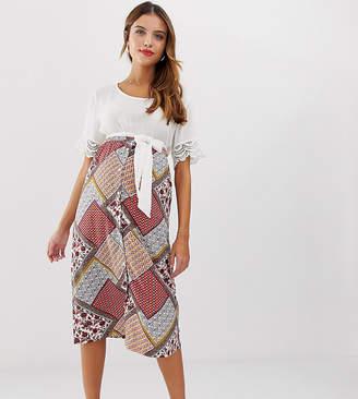 db9c3f7ee9f Mama Licious Mama.Licious Mamalicious maternity printed button through midi  skirt