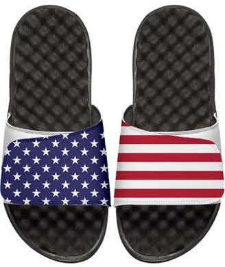 ISlide Men's American Flag Slide Sandals, White