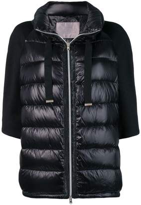 Herno contrast sleeve padded jacket