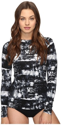 Lucky Brand Global Tie-Dye Rashguard Cover-Up $72 thestylecure.com