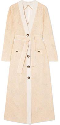 Alessandra Rich - Belted Metallic Tweed Jacket - Yellow