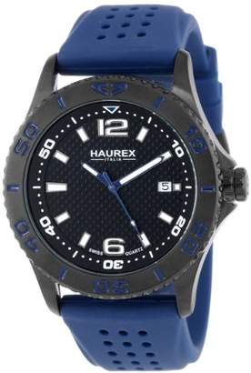 "Haurex Italy Men's 3N500UBN ""Factor"" Black Ion-Plated Stainless Steel Casual Watch"