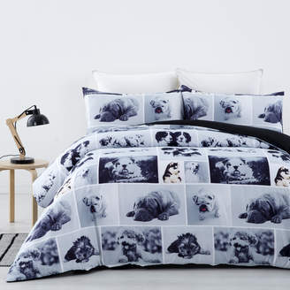 Dreamaker Dog Day Printed Quilt Cover Set