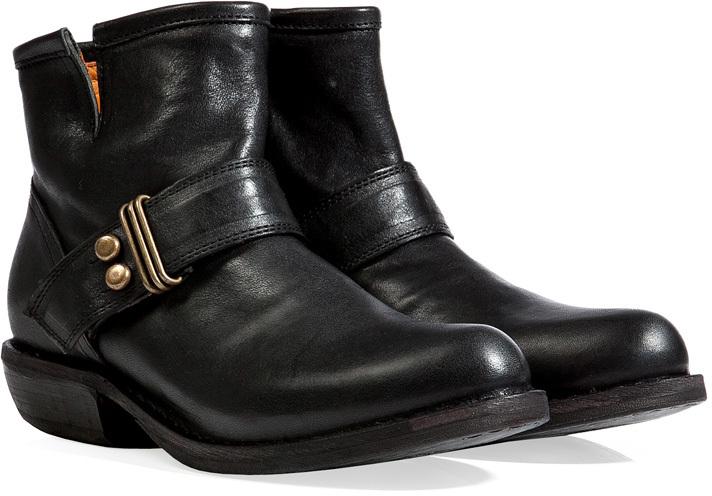 Fiorentini+Baker Fiorentini & Baker Leather Stud Strap Ankle Boots in Black