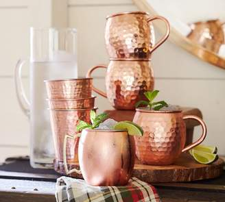 Pottery Barn Hammered Copper Tumbler