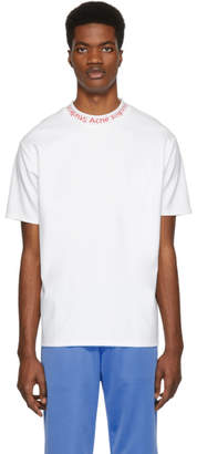 Acne Studios SSENSE Exclusive White and Red Navid T-Shirt