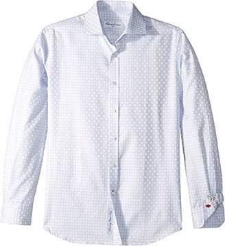 Robert Graham Mens Martin Check Long Sleeve Dress Shirt (LG/XL)