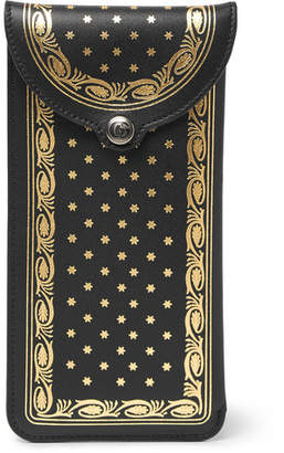 Gucci Guccy Star-Print Leather Glasses Case