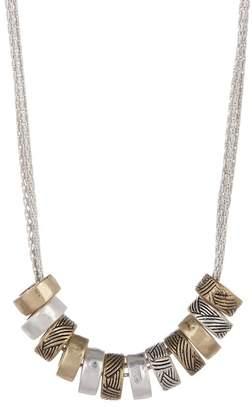 The Sak Multi-Strand Ring Pendant Necklace