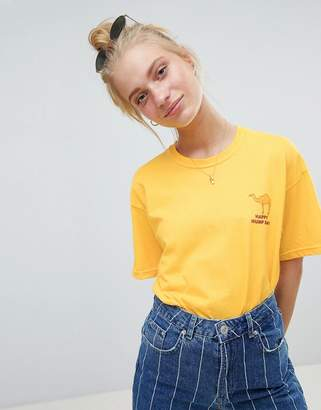 Daisy Street T-Shirt With Hump Day Print