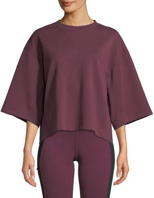 The North Face Train Logo Short-Sleeve Pullover Sweatshirt