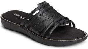 Aerosoles Super Cool Faux-Leather Slip-On Sandals
