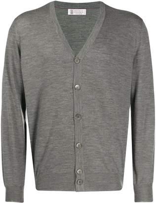 Brunello Cucinelli slim-fit knitted cardigan