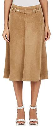 Mayle Maison Women's Marianne Suede Flared Skirt