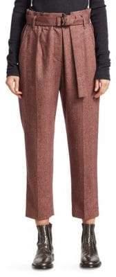 Brunello Cucinelli Flannel Chevron Pants