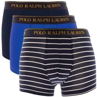 Ralph Lauren Underwear 3 Pack Trunks Navy