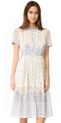 Sea Jane Border Print Dress $415 thestylecure.com