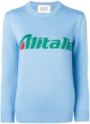 Alberta Ferretti 'Alitalia' knit sweater