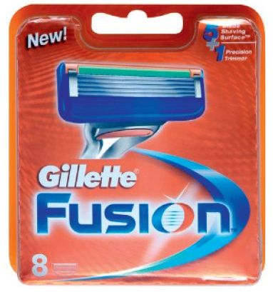 Gillette Fusion Twin Pack Of 8 Blades