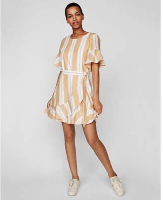 Express striped wrap front dress