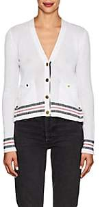 Thom Browne Women's Mesh-Knit Cotton Cardigan - White